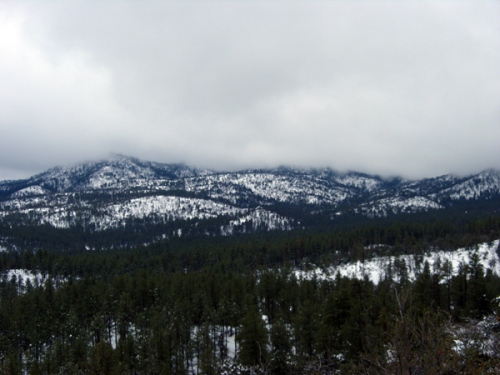 A snow covered mountain in Prescott
